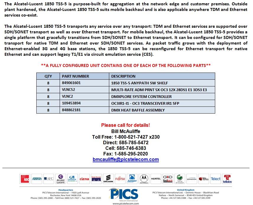Alcatel-Lucent 1850 TSS-5 For Sale Bottom