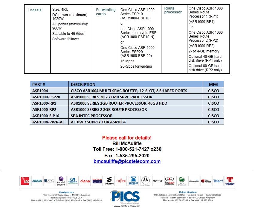 Cisco ASR 1004 For Sale Bottom