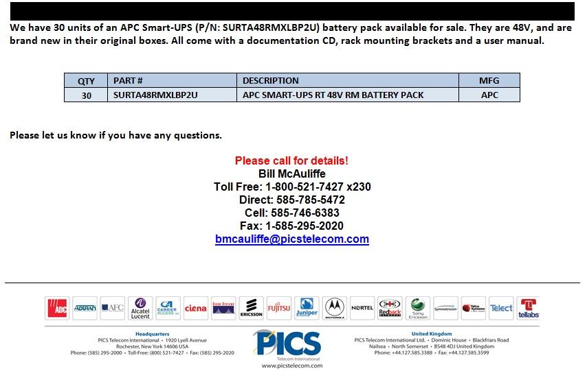 APC Smart-UPS Battery Packs For Sale Bottom