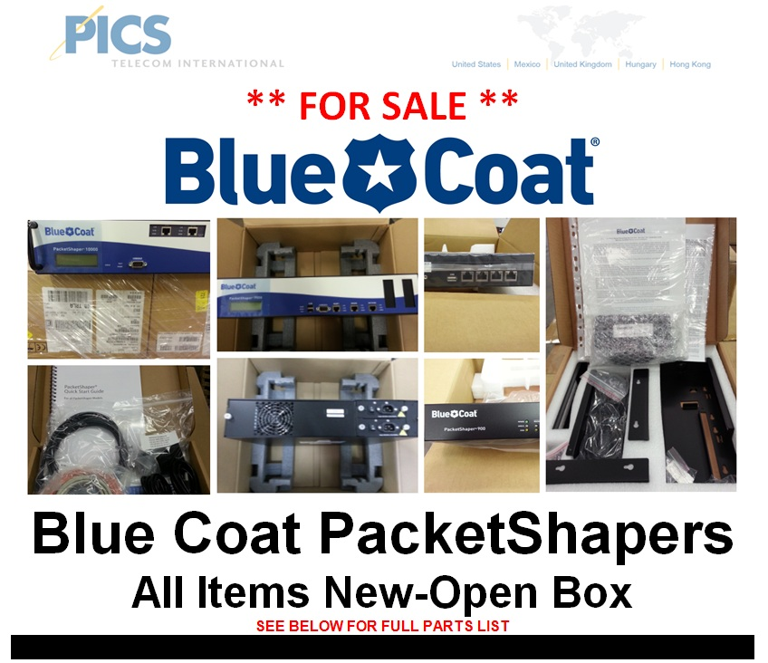 Blue Coat PacketShapers For Sale Top