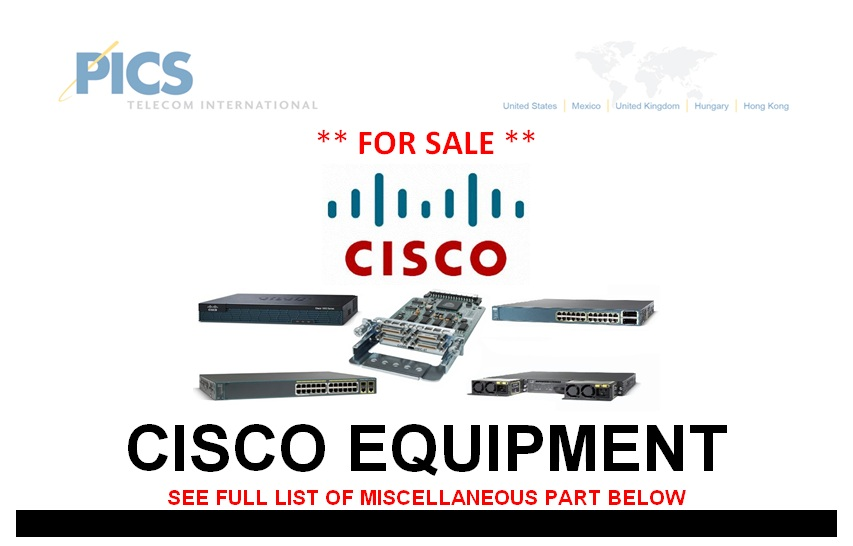 Cisco Equipment (MISC) For Sale Top