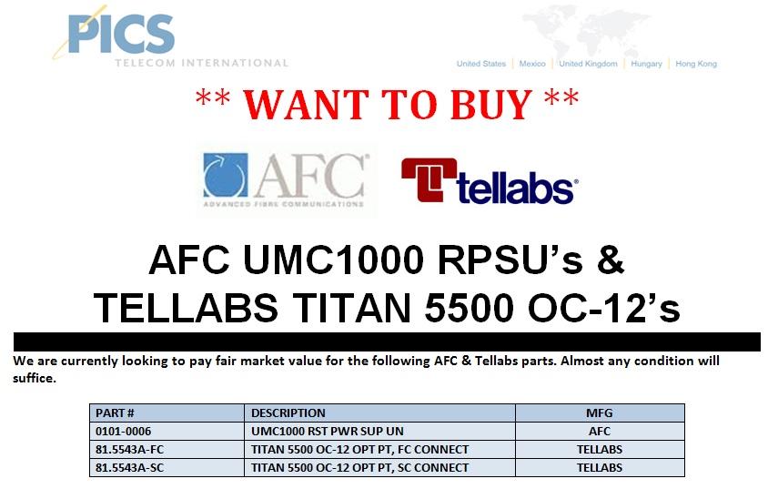 AFC UMC1000 & TITAN 5500 OC-12 WTB Top