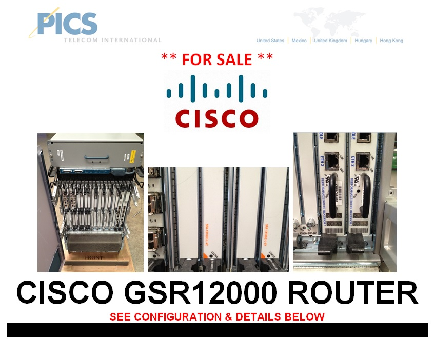 Cisco GSR12000 Router For Sale Top