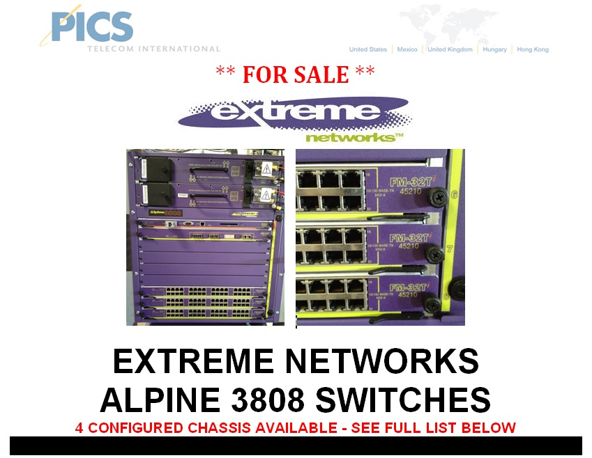 Extreme Networks Alpine 3808 For Sale Top
