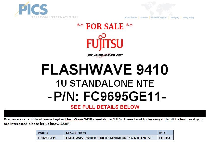Fujitsu FlashWave 9410 NTE For Sale Top