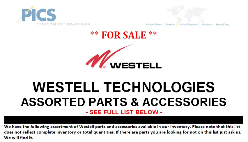 Westell Parts For Sale Top (6.27.13)