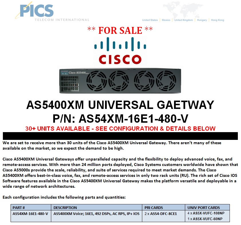 Cisco AS5400XM Universal Gateway For Sale Top (7.23.13)