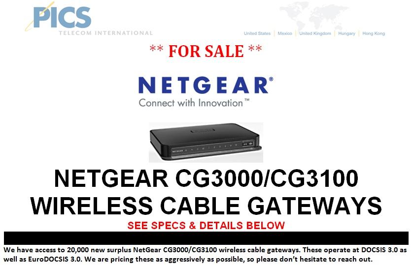NetGear CG3000-CG3100 For Sale Top (7.22.13)