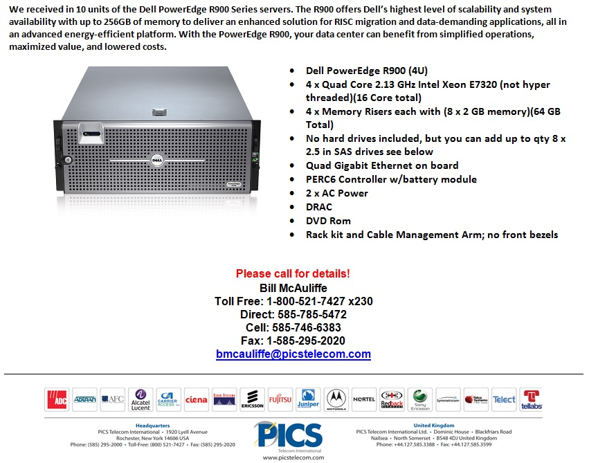 Dell PowerEdge R900 Series Servers For Sale Bottom (8.22.13)