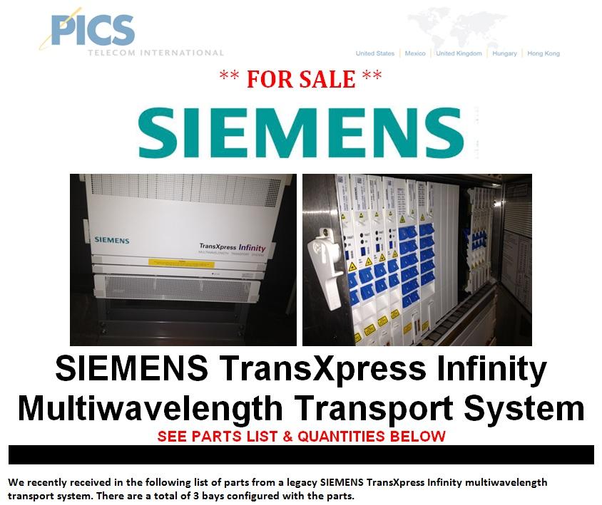 SIEMENS TransXpress Infinity For Sale Top (8.14.13)