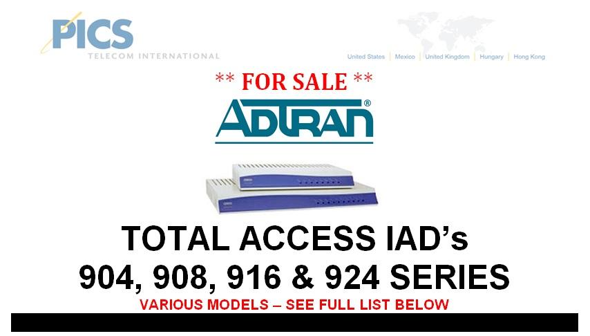 Adtran 900 Series IADs For Sale Top