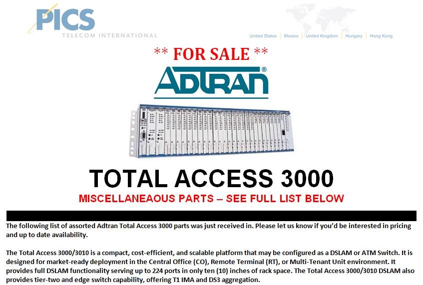 Adtran TA3000 For Sale Top (9.30.13)