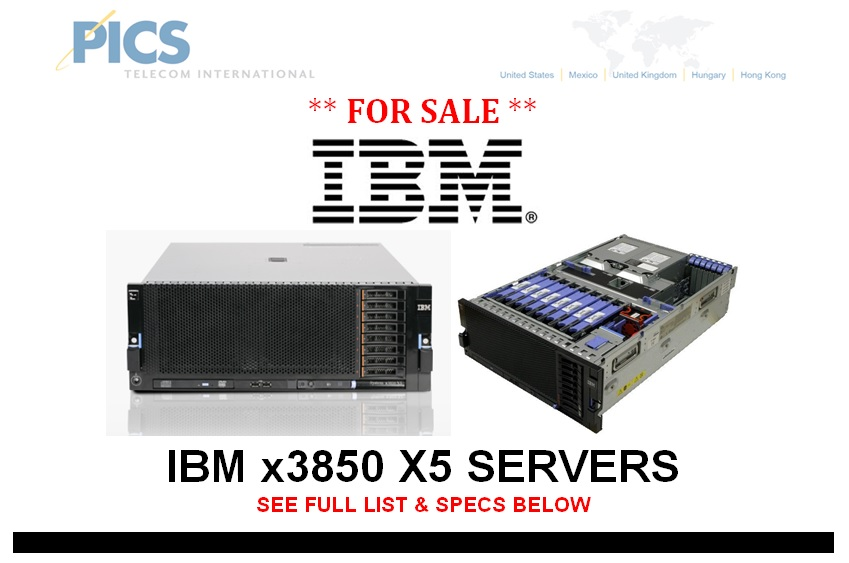 IBM x3850 X5 Servers For Sale Top (9.12.13)