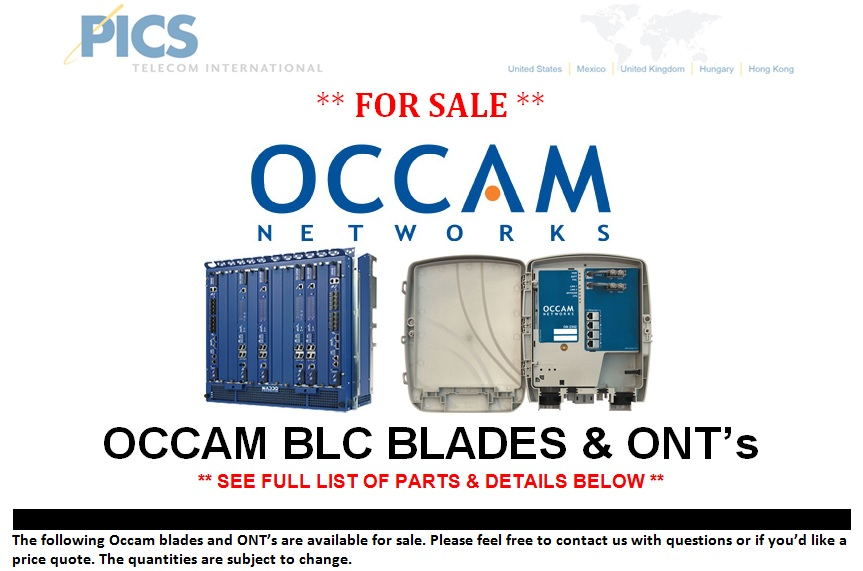 Occam BLC Blades & ONT's For Sale Top (10.1.13)