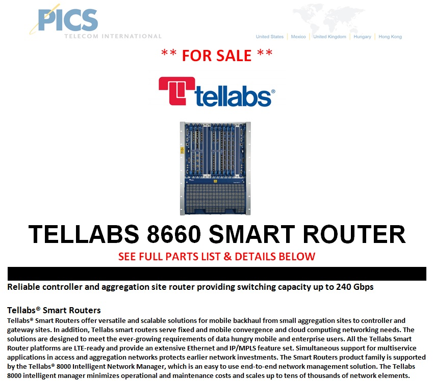 Tellabs 8660 Smart Router For Sale Top (11.8.13)