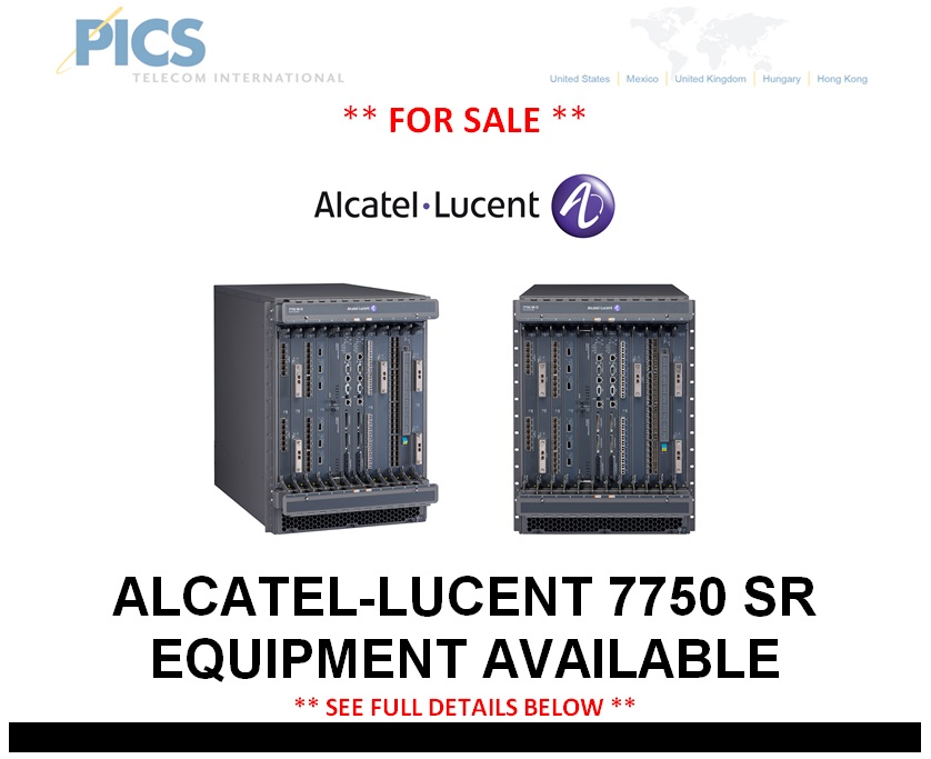 Alcatel-Lucent 7750 SR Equipment For Sale Top (2.6.14)