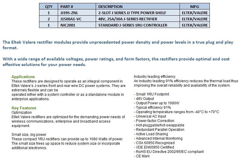 Eltek-Valere J-Series Rectifiers For Sale Bottom (5.6.14)