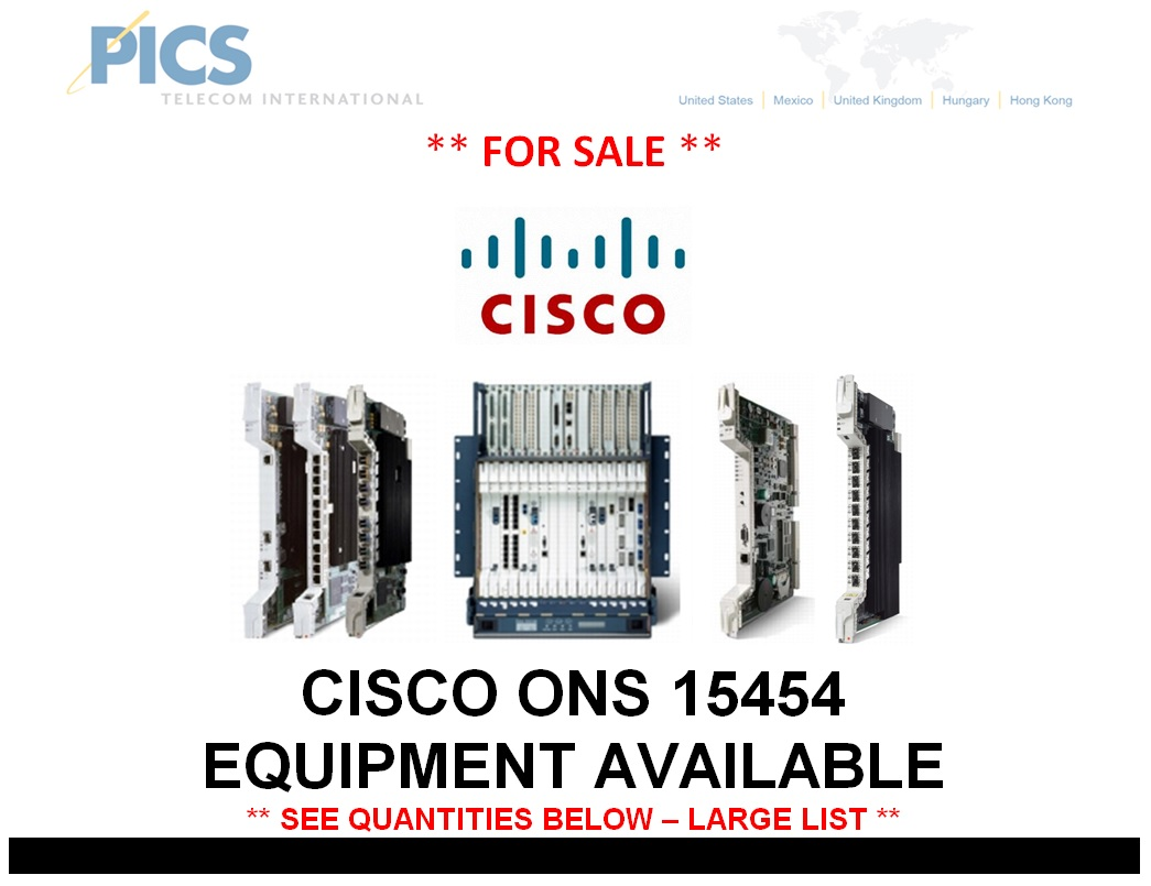 Cisco 15454 Equipment For Sale Top (7.7.14)