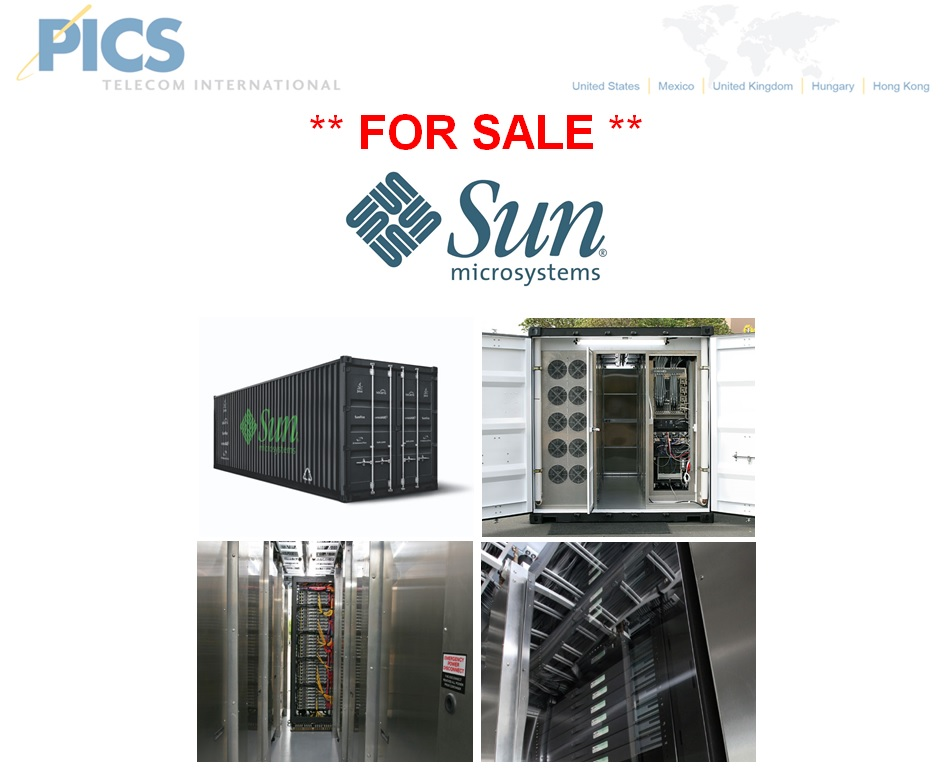 Sun S20 Model Mobile Datacenters For Sale Top (7.14.14)