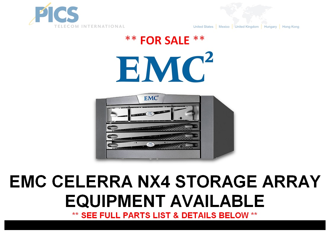 EMC Celerra NX4 For Sale Top (9.16.14)