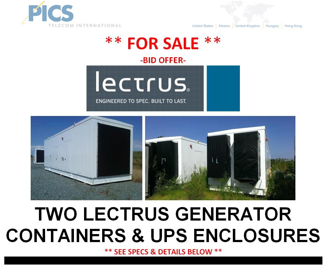 Lectrus Generator & UPS Containers Bid Offer Top (9.30.14)