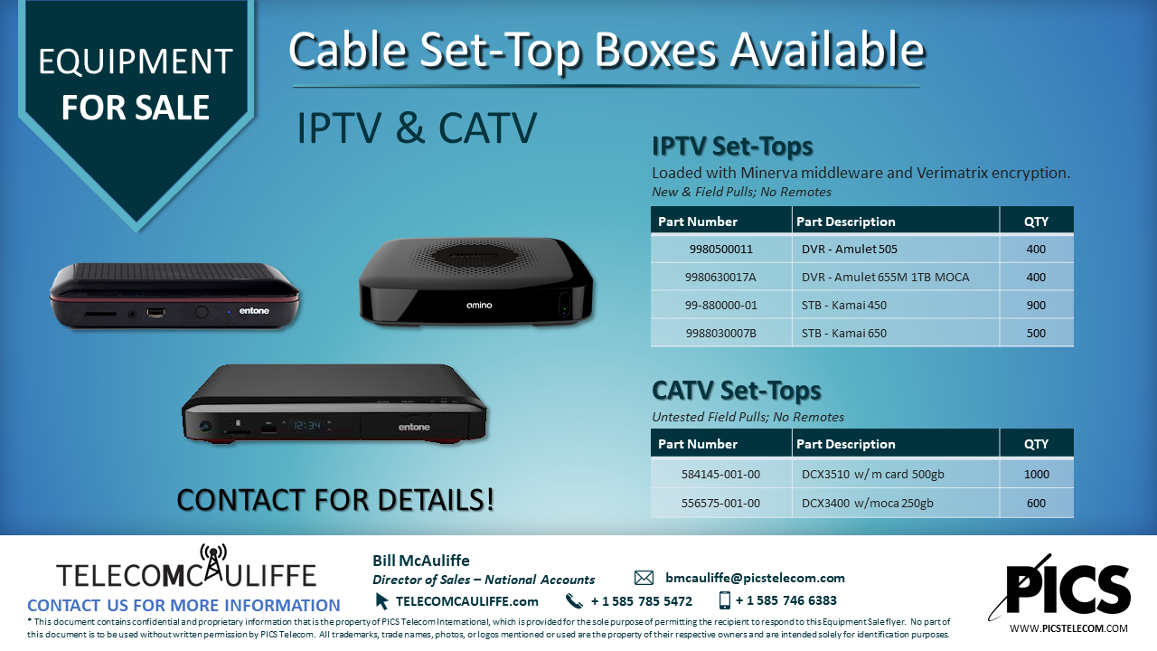 IPTV & CATV Cable Boxes For Sale