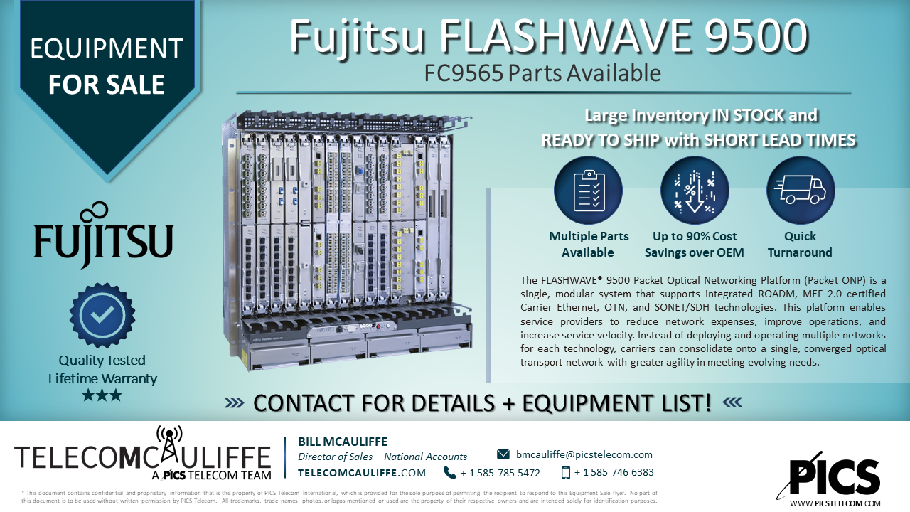 For Sale_TELCOMCAULIFFE- Fijitsu Flashwave 9500