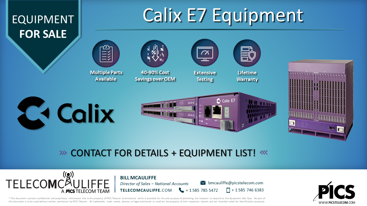 TELCOMCAULIFFE - Calix E7