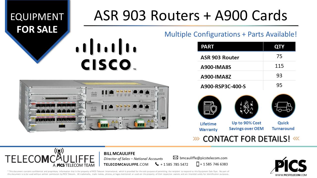 TELCOMCAULIFFE_PICS-Telecom-ForSale-Cisco ASR903-A900 Series