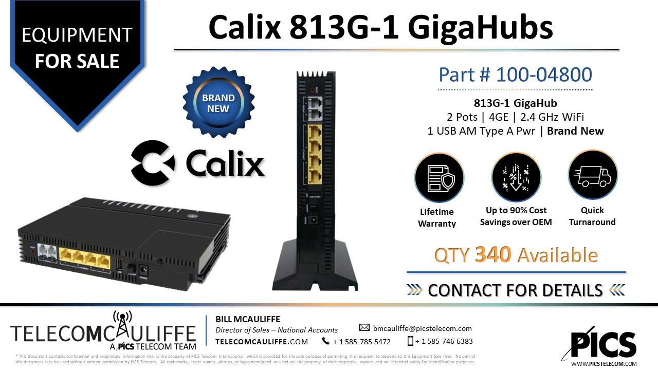 TELCOMCAULIFFE_PICS-TELECOM_For Sale- Calix-813G-1 GigaCenters -100-04800