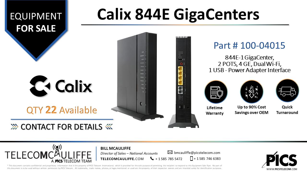 TELCOMCAULIFFE_PICS-TELECOM_For Sale- Calix-844E GigaCenters