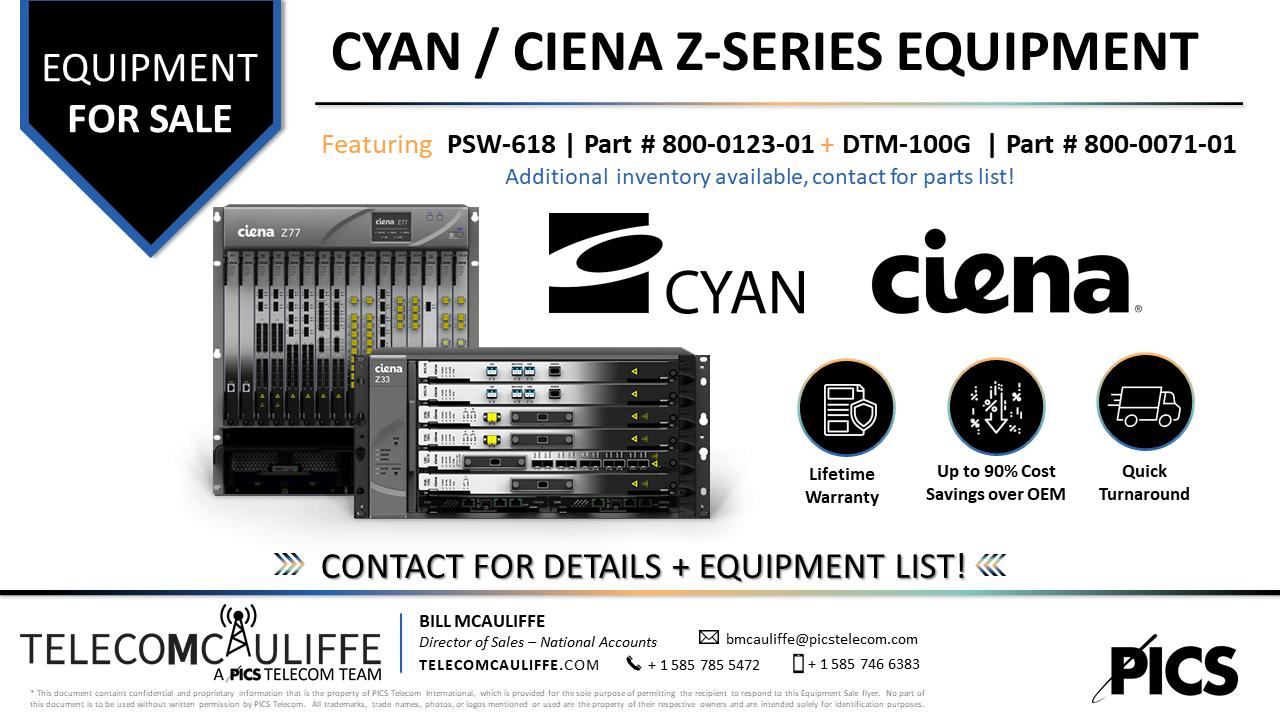 TELECOMCAULIFFE_PICS-TELECOM_For Sale- Cyan-Ciena-Z-series_DTM-100G_PSW-618