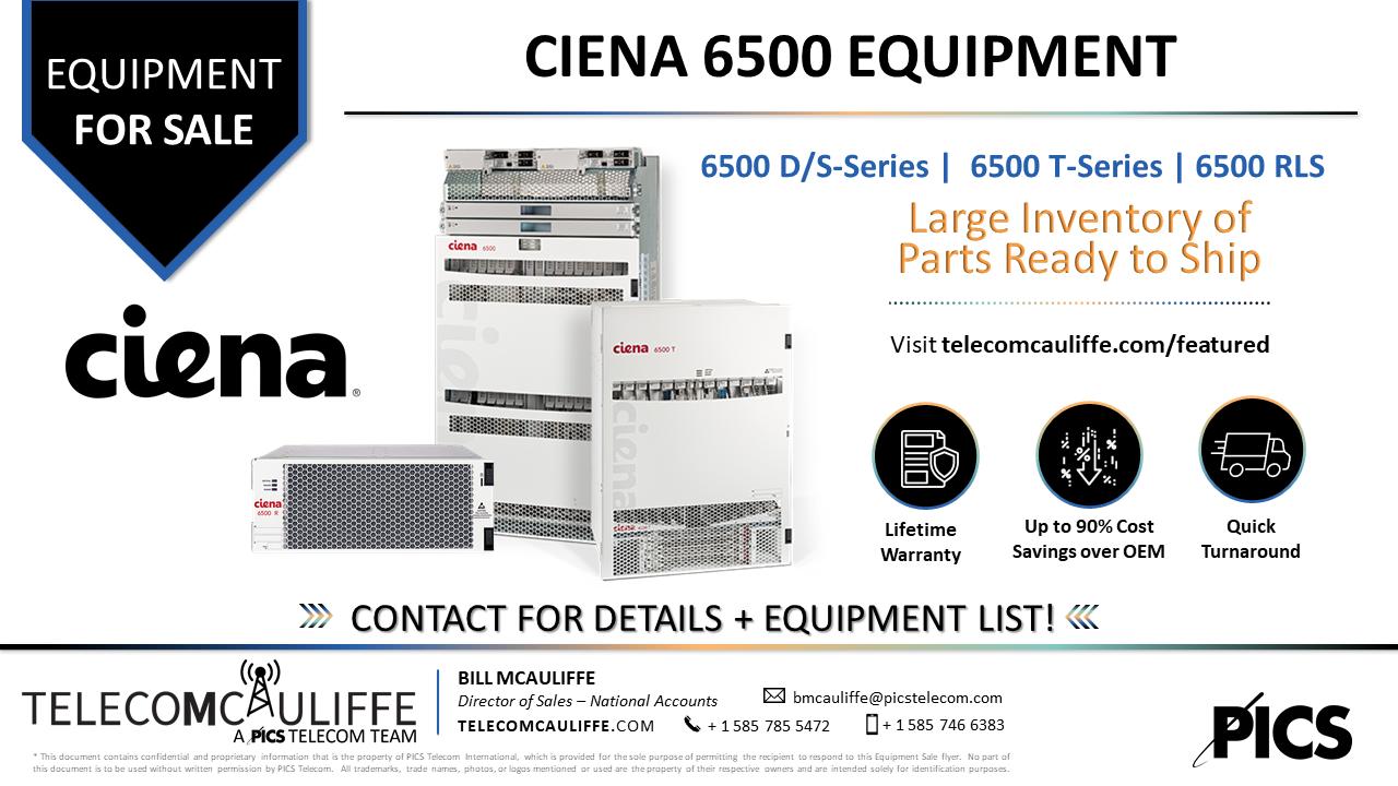 TELECOMCAULIFFE_PICS TELECOM_For Sale_Ciena6500_Aug 2021