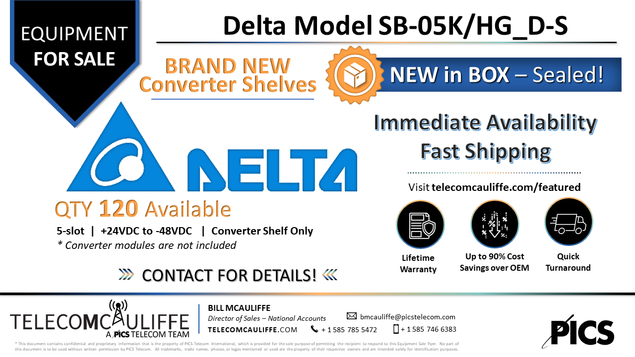 TELECOMCAULIFFE_PICS TELECOM_For Sale_Delta-Electronics