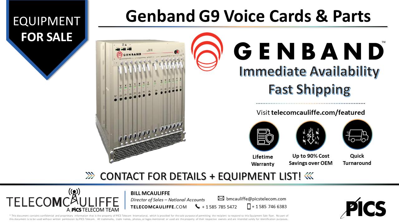 TELECOMCAULIFFE_PICS TELECOM_For Sale_Genband-G9